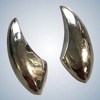 Daring Sculptural Sterling Earrings by Bayanihan