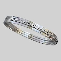 Timeless Sterling Scroll and Hammered Bangles by Lois Hill