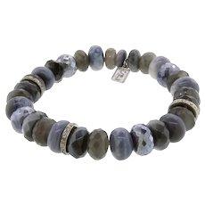 Sheryl Lowe Mixed Grey Gemstone and Diamond Bracelet