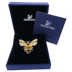 Gorgeous Authentic Swarovski Crystal Bumble Bee Brooch