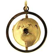 Around the World with a 14 karat Globe Charm