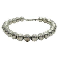 """Sterling Silver 8mm Pearl Bead Bracelet 8.5"""""""