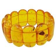Vintage Genuine Honey Baltic Amber Stretch Bracelet