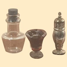 Vintage Dollhouse Glass and Metal Miniatures