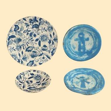 Vintage Dollhouse Metal & Porcelain Dishes