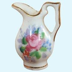 Fine Porcelain Dollhouse Pitcher Mid-Century