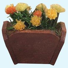 Vintage German Wooden Dollhouse Flower Planter
