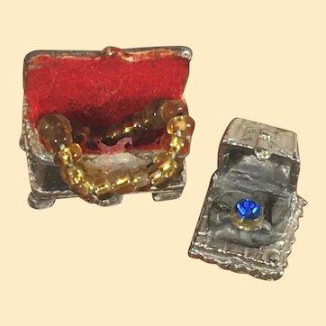 Vintage Dollhouse Jewelry Box & Ring Box