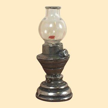 Vintage Artist Made Dollhouse Oil Lamp