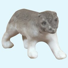 Antique Hertwig Bisque Walking Grey Bear