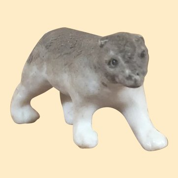 Antique Hertwig Bisque Walking Grey Bear