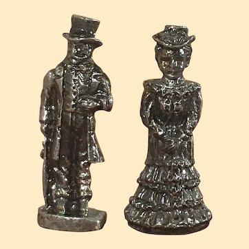 Artist Made Vintage Dollhouse Figures Mantle Statues