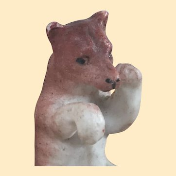 Antique Hertwig Porcelain Sitting Bear