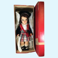 Rare Un-Played with 1950's Scottish Terri Lee Doll Excellent Condition in Original Box