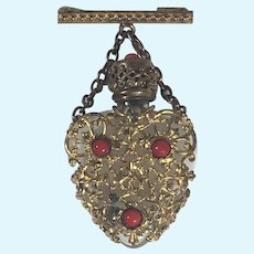 French Antique Perfume Dangle Pin for French Fashion and German Dolls