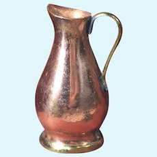 Vintage Copper Dollhouse Pitcher Made in Italy
