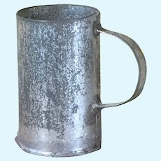 Antique German Tin Handled Mug for Tin Dollhouse Kitchen