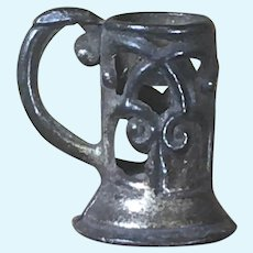 Antique Metal Mug for Dollhouse 1:12 Scale