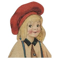 Early 1900's Paper Doll: The Match Girl
