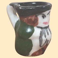 """11/16"""" Vintage Dollhouse Porcelain Toby Mug"""