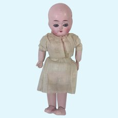 Minty TINY 1850 Antique Doll Motschmann TAUFLING Baby