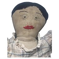 Endearing Early Antique CLOTH DOLL