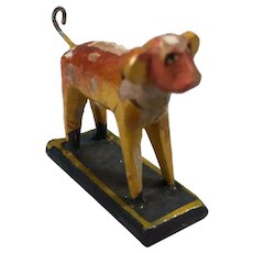 Germany Wooden Dog c.1900 Doll Accessory