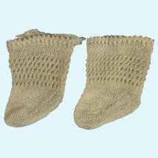 GL Bleuette Socks 1916 Antique French Doll Stockings