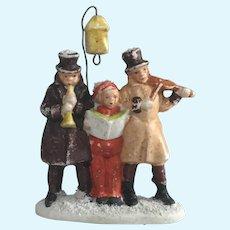 German Snowbaby Type Carolers/Musicians Antique Hertwig Snow Baby Figure