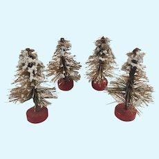 Antique German Bottle Brush Christmas Trees for your dollhouse