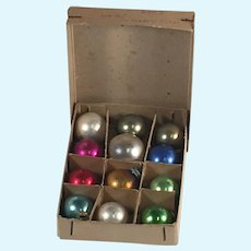 Boxed Tiny Vintage Christmas Ornaments for Doll Sized Tree