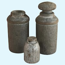 Early 1900's Dollhouse Mercantile or Kitchen Wooden Milk Cans