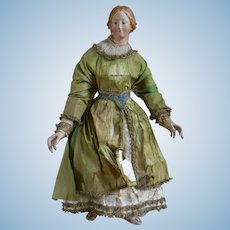 **1850 Neapolitan figure of the Madonna 18,8 inches tall***