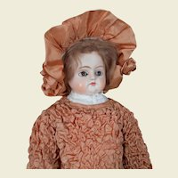 """****Early 28 """" Paper mache early doll***"""