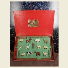 **Erz gebirge farm figures in the original box !!!**