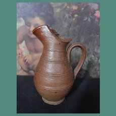 1840's-1850's Miniature stoneware jug very hard to find !