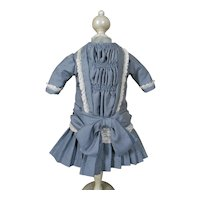 "**Lovely blue, wild silk dress***suitable for a 20""doll."