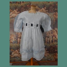 **Authentic light blue dress suitable for a doll approx 28 inches.***