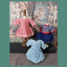 **Three small dresses*** Bleuette size..