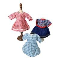**Three small dresses*** Bleuette size..