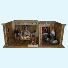**Beautiful doll house 2-rooms all complete by Schönherr**approx 1910