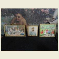 **Three lovely dollhouse pictures frames***