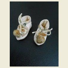Antique rare very tiny shoes / mignonette size