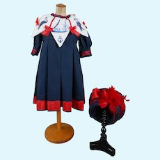 Amazing Sailor costume 2-piece..Hand embroidered collar.