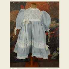 ***Gorgeous soft blue dress with beautiful lace.****
