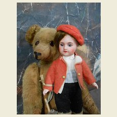**Cabinet size French boy...all original***