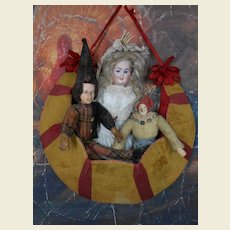 ***Carl Bergner three - faced doll...12,8 inches ****