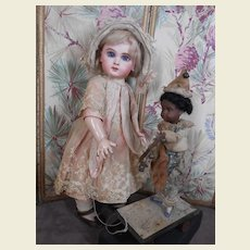 Rare Pull toy with black gorgeous Kuhnlenz doll..all original.