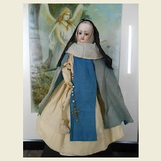 All authentic Lady doll dressed as a Nun approx 1880.