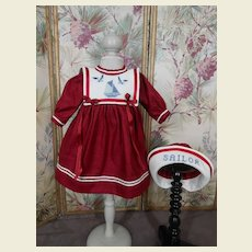 **Small Sailor dress with embroidered collar....and hat
